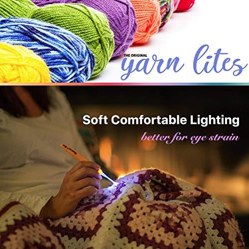 Light Up Crochet Hook Set - The Original Crochet Hook Lights, Set of 9 Hooks by Yarn Lites (Image #4)