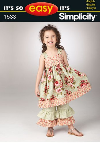 Buy matching girl and doll dress patterns - 8
