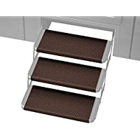 Prest-O-Fit 2-4066 Chocolate Brown 18 Wide Outrigger RV Step Rug, 3 Pack, 3