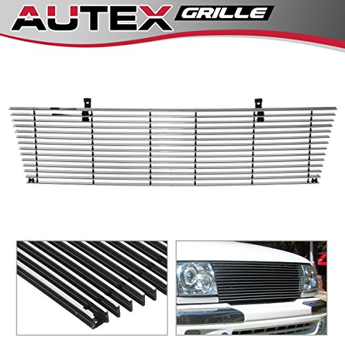 AUTEX T85463A Polished Aluminum Upper Billet Grille Compatible with Toyota Tacoma 4WD 1998 1999 2000 Grill Insert