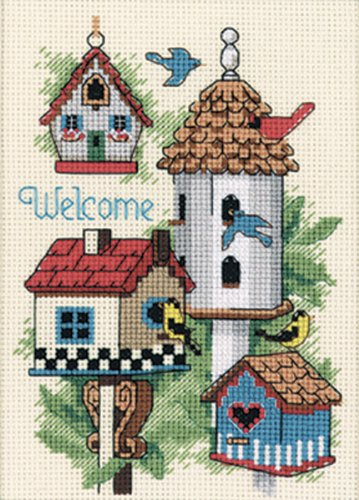 Bird House Dimensions Mini Counted Cross Stitch Kit