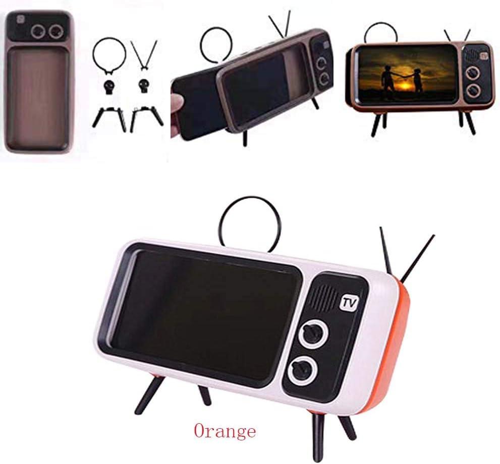 NIUMS Soporte para teléfono móvil con Forma de televisor, Soporte para teléfono con Soporte Retro para TV Soporte Universal Soporte para teléfono móvil Naranja: Amazon.es: Electrónica
