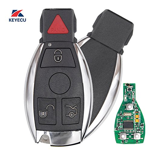 Nec Spare Parts - Keyecu Replacement Remote Car Key Fob 3+1 Button 315MHz NEC Chip for Mercedes-Benz 2000-2014, Support NEC & BGA