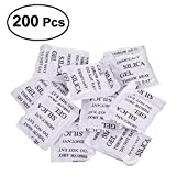 UKCOCO Silica Gel Desiccant, 200 Packs Non Toxic Moisture Absorber Dry Damp-proof Corrosion Desiccant Packets and Dehumidifiers (2 Gram/Pack)
