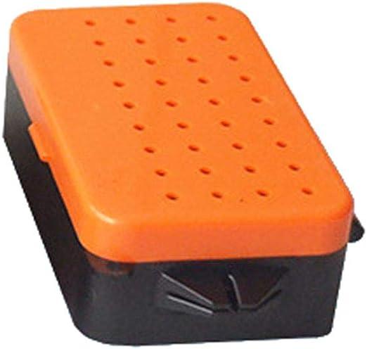 Lorsoul Caja de Cebo de Pesca del Gusano de plástico con Capas Dobles, Caja de señuelos Transpirable Almacenamiento, Envase Gusano Vivo - S: Amazon.es: Hogar