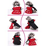 Cideros Pet Apparel Dog Clothes Cat Costume Coat Minnie Style Costumes Christmas Party Outfit - Size M