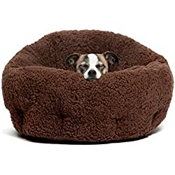 "Best Friends by Sheri OrthoComfort Deep Dish Cuddler (20x20x12"") - Self-Warming Cat and Dog Bed, Brown"