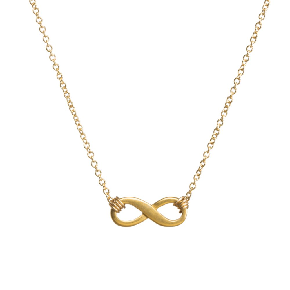 Dogeared Small Infinite Love Infinity Necklace 16'' with 2'' Extender Gold Dipped