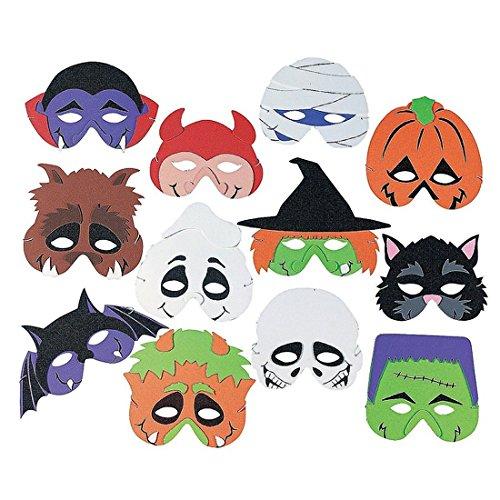 [Foam Halloween Masks, 12pk, Halloween Party, Fun, New] (Famous People Costumes For Halloween)