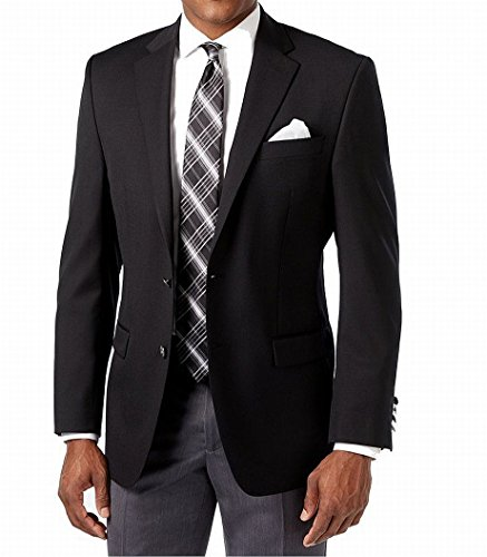 Michael Kors Black Solid Two Button Wool Blend New Men's Sport Coat (40 (Michael Kors Black Wool)