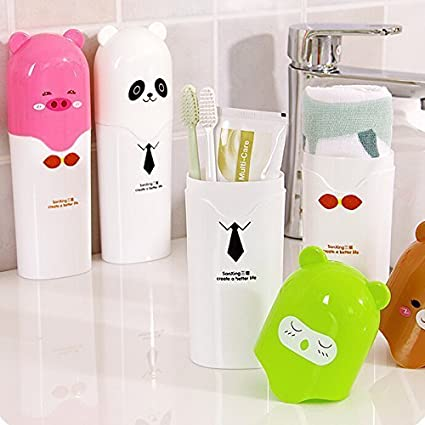 Vmore Plastic Travel Toothbrush Holder Case (Multicolour)