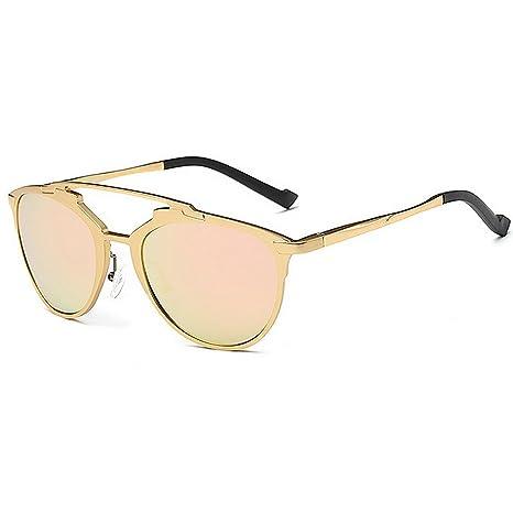 Peggy Gu Gafas de Sol polarizadas pequeñas de Las Mujeres ovales Marco Completo de Aluminio y