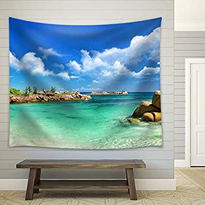 Tropical Blue Sea with Clear Water - Fabric Tapestry, Home Decor - 51x60 inches