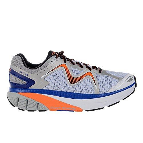 MBT Men's GT 16 Running Shoe, White/Burnt Orange/Royal, 9 M US Mbt Physiological Footwear