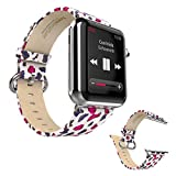 Dokpav® HOCO Leather Band Strap w/ Metal Clasp For Apple Watch 42mm - Leopard