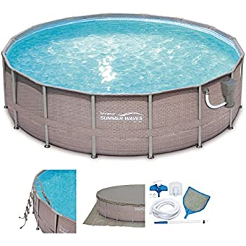 Amazon Com Bestway 13429 Power Steel Swimming Pool 16 X