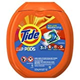 Tide PODS 3 in 1 HE Turbo Laundry Detergent Pacs, Original Scent, 81 Count Tub - Pack of 6