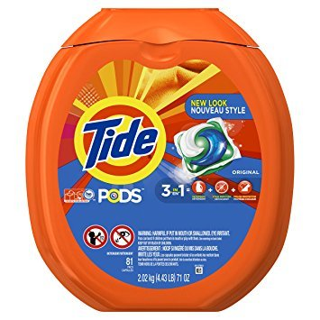 Tide PODS 3 in 1 HE Turbo Laundry Detergent Pacs, Original Scent, 81 Count Tub - Pack of 3 by Tide P