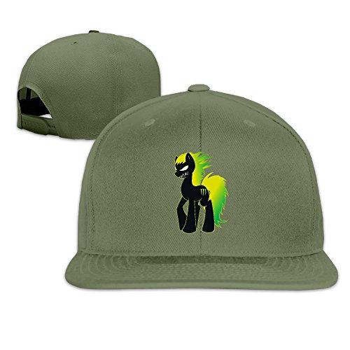 [Custom Unisex-Adult Anger Horse Adjustable Baseball Visor Cap ForestGreen] (Horse Costume Class)
