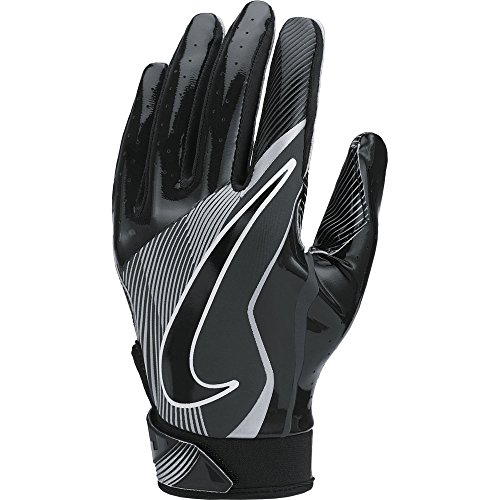Boy's Nike Vapor Jet 4 Football Gloves Black/Wolf Grey Size Medium