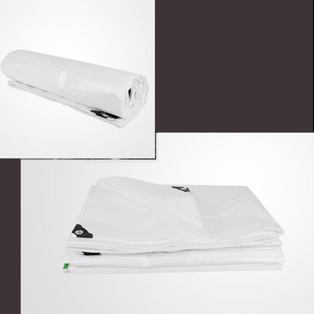 YH Verdickte Regendichte Plane Wasserdichte Leinwand Plane Farbe Streifen Tuch Tuch Tuch Auto LKW Schutz Markise Weiß 160 G Qm A (größe   4 x 6m) B07JRDFRYS Zeltplanen Abrechnungspreis 839507