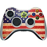 Countries of the World Xbox 360 Wireless Controller Skin - Distressed American Flag Vinyl Decal Skin For Your Xbox 360 Wireless Controller