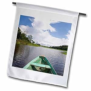 Danita Delimont - Boats - Dugout canoe, Boat, Arasa River, Amazon, Brazil - SA04 DFR0391 - David R. Frazier - 12 x 18 inch Garden Flag (fl_85705_1)