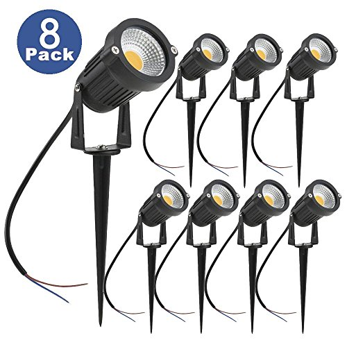 Zuckeo 5w led landscape lights 12v 24v waterproof garden path zuckeo 5w led landscape lights 12v 24v waterproof garden path lights warm white walls trees flags outdoor spotlights with spike stand 8 pack aloadofball Images
