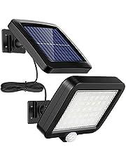 MPJ 56 LED lampa solarna na zewnątrz z czujnikiem ruchu, wodoszczelność IP65, kąt oświetlenia 120°, solarna lampa ścienna do ogrodu z kablem o długości 4 m