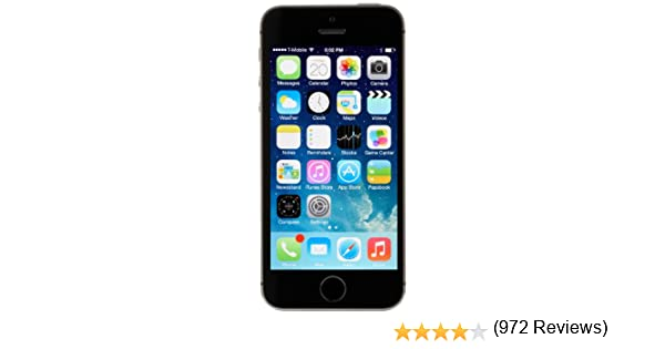 Apple iPhone 5S Smartphone Libre 16/32/64GB (16GB, Space Grey ...