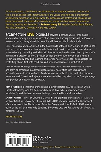 architecture live projects pedagogy into practice amazon co uk  architecture live projects pedagogy into practice amazon co uk harriet harriss 9780415733526 books