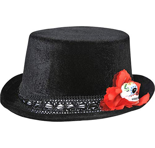 AMSCAN Day of the Dead Top Hat Halloween Costume Accessories, One Size]()