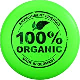 Eurodisc 175g 4.0 100% Organic Ultimate Frisbee Competition Disc not Discraft, exclusive scratch resistant print 100% ORGANIC GREEN