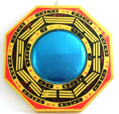 """Chinese Feng Shui Bagua Mirror Wealth Fortune 7.5"""""""