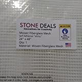 "Stone Deals Mosaic Mesh for Back Mounted Tile 24"" x 38"" Sticky, Self adhesive"