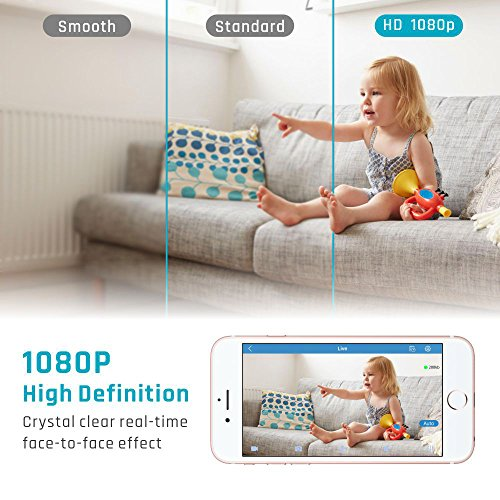 IP-Camera-iSPECLE-1080P-HD-WiFi-Surveillance-Security-Baby-Camera-Wireless-Remote-with-Two-way-Audio-Night-Vision-Pet-Monitor-Motion-Detection-Indoor-Home-Baby-Elder-Nanny-Pet-Camera-White