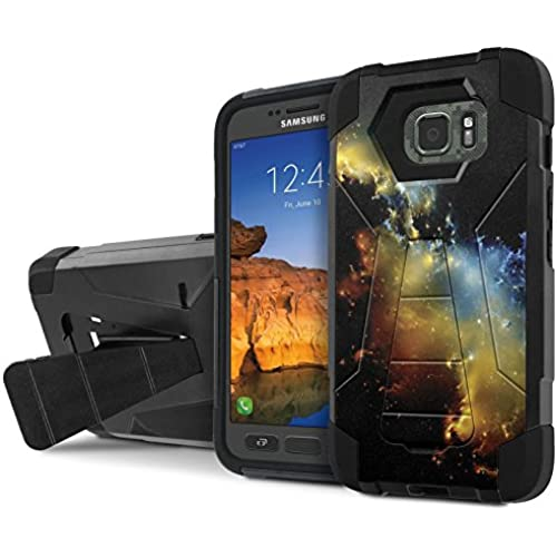 AT&T [Galaxy S7 Active] Armor Case [NakedShield] [Black/Black] Tough ShockProof [Kickstand] Phone Case - [Stars Sales