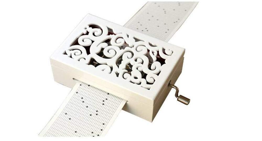 贅沢屋の cuzit Make Your Own音楽ボックスキット木材彫刻メカニズムMusicalボックスHandcrank DIY Musicbox DIY gift-30ノートホワイト Your Make B07CQNG9KN, うさうさラビトリー:e8e1c16d --- arcego.dominiotemporario.com