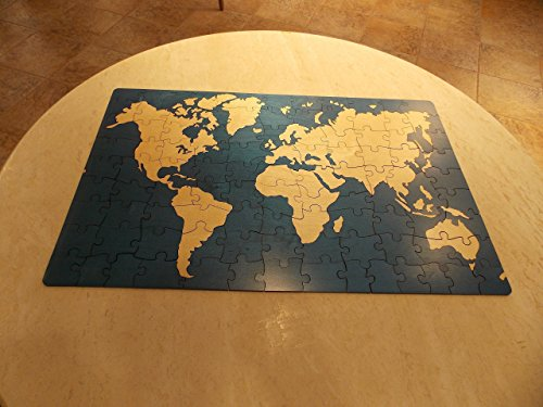 World Map Alternative Wedding Guest Book Box Puzzle
