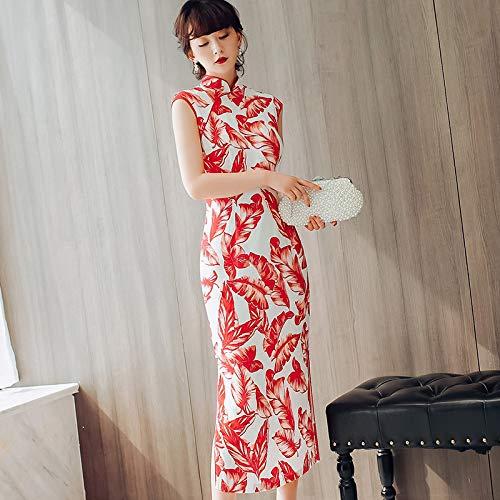 Cheongsam Sottile Moda Di La Lunga Quotidiano Nuova Sezione Xxl Banchetto Bingqz Da Del Il Veste Dimagrente Vestito ZOS7nnqwE