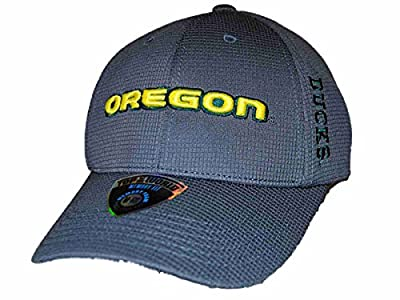 Top of the World Oregon Ducks TOW Charcoal Booster Plus Memory Fit Adjustable Hat Cap by Top of the World