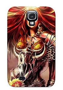 Catenaryoi Snap On Hard Case Cover Warrior Girl Protector For Galaxy S4 wangjiang maoyi