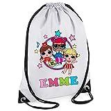 44th Street Ltd Personalised LOL Surprise Dolls Drawstring PE Sports Gym Bag - Design1