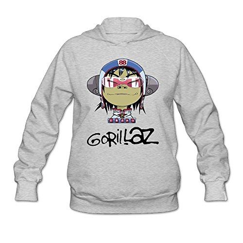 [DVPHQ Women's Custom Gorillaz Band Cartoon Hoodie Size XXL Ash] (C Viper Costumes)