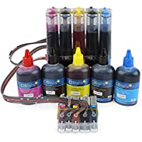 Continuous Ink Supply System with Ink Bottle Set - 5 Color for Canon PGI-270 CLI-271 PIXMA MG5720 MG5721 MG5722 MG6820 MG6821 MG6822 CISS