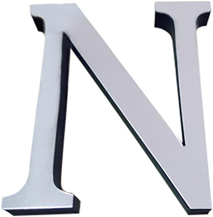 Gaddrt 26 Buchstaben DIY 3D Spiegel Acryl Wandaufkleber Aufkleber Moderne Wohnkultur Wandkunst Wandbild Schlafzimmer oder K/üche A