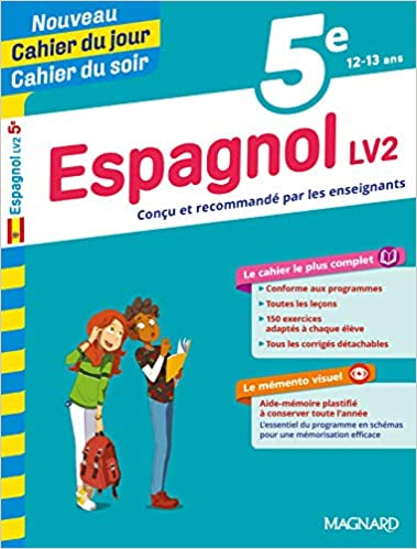 Cahier du jour cahier du soir espagnol 5e