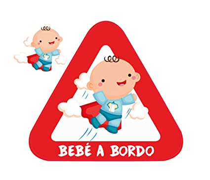 Haberdashery Online Pegatina Adhesiva Bebé a Bordo. Adhesivo vinilo para coche o moto. 15 x 13,7 cm. (1. Niño)