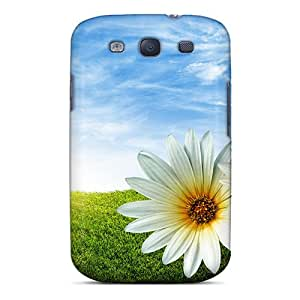 Cute Appearance Cover/tpu SokyWfE1234CDPZs Lovely Flowers In Spring Case For Galaxy S3