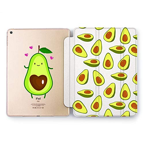 (Wonder Wild Avocado Heart Apple iPad Pro Case 9.7 11 inch Mini 1 2 3 4 Air 2 10.5 12.9 2018 2017 Design 5th 6th Gen Clear Smart Hard Cover)